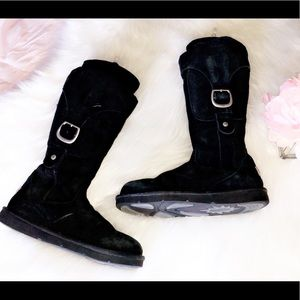 UGG Cargo Black Tall Boots